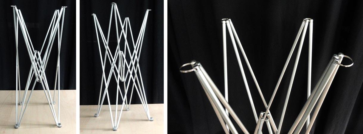 Gambe Metalliche Pieghevoli Per Tavoli.Gambe Flex Per Tavolino E Tavolo Luminoso Mtc